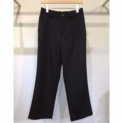 WOOL BACK SATIN TWILL SEMI FLARE TROUSERS