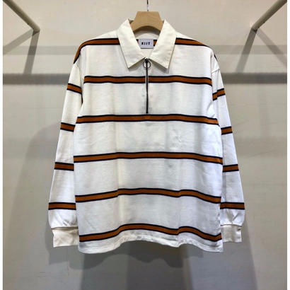 HALF ZIP STRIPE RUGBY SHIRTS