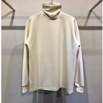 WOOL  BLEND  RIPPLE  TURTLE  NECK  TOPS