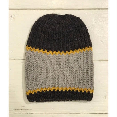 LOW GAUGE TRICOLOR BIG KNIT CAP