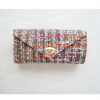 ≪受注販売≫『働く女性』のための究極のお財布バッグ(ピンクオレンジ×ピンク)