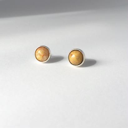 Orb earring in crazy lase agate