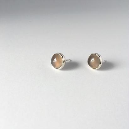 Orb earring in grey agate