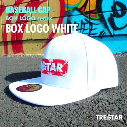 トレスター ベースボールキャップ ボックスロゴ ホワイト