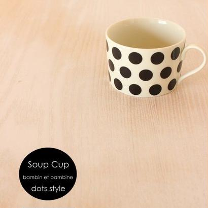 soup cup●black dots