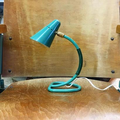 フランス テーブルランプ  Lamp Cocotte Vert Malachite 50's