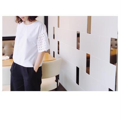 パンチング袖[ホワイト]