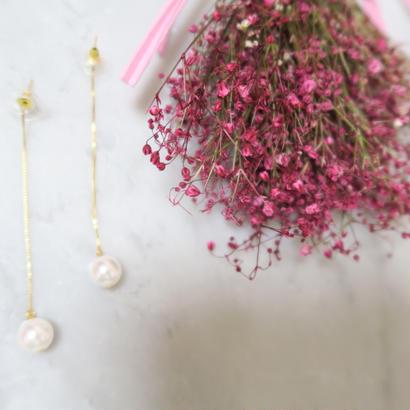longchain pearl pierce /14K
