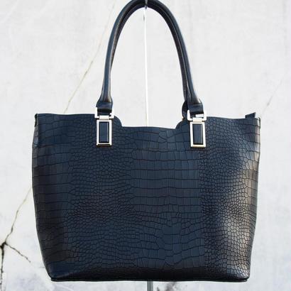 Croco Elegance Tote/BLK