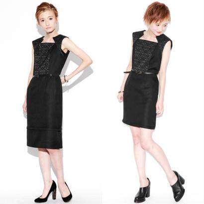 entrefilles・benemode【Black Jacquard 2way Dress】