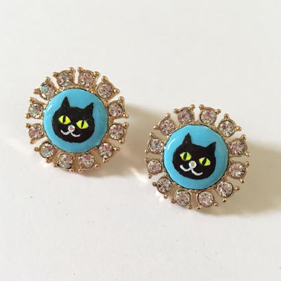 CAT LIGHT BLUE ピアス