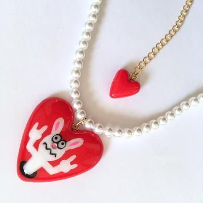 METAL BUNNY HEART ネックレス