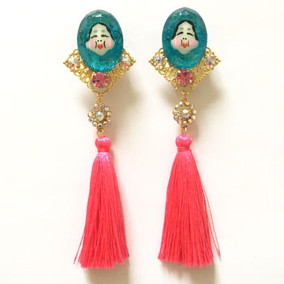 TOY JEWEL OKAME TASSEL イヤリング