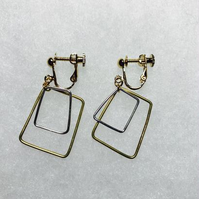 sikaku earring double [VE-015]