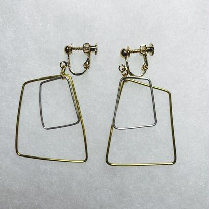 sikaku earring double L [VE-018]