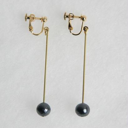 pearl earring long [VE-003b]