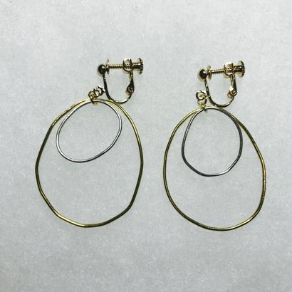 maru earring double L [VE-016]