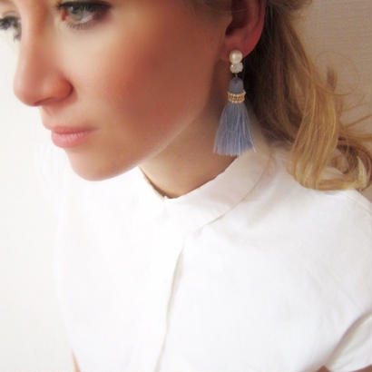 Bijoux tassels ( powder blue)