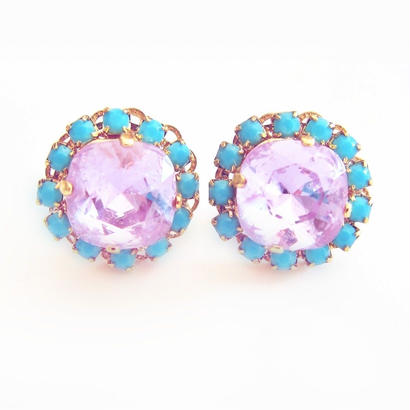 Bijouest Petit Pierce / turquoise & purple