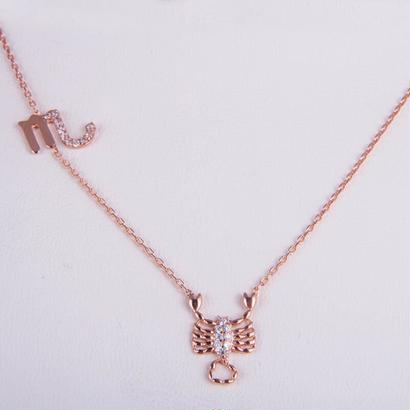 Rose Gold 925 Zodiac necklace Scorpio/さそり座