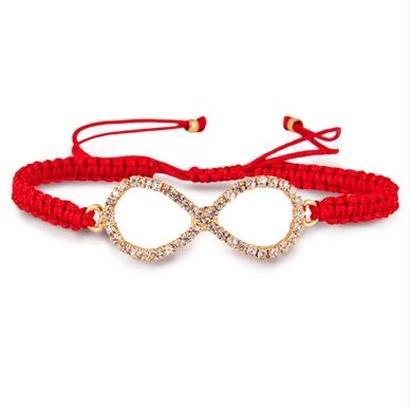 Amorium jewelry/ infinity bracelet Red