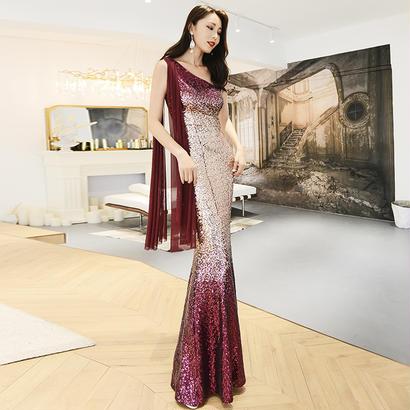ロングドレス パーティードレス 結婚式 二次会 ワンピース 結婚式ドレス お呼ばれワンピース 20代 30代 40代 紫