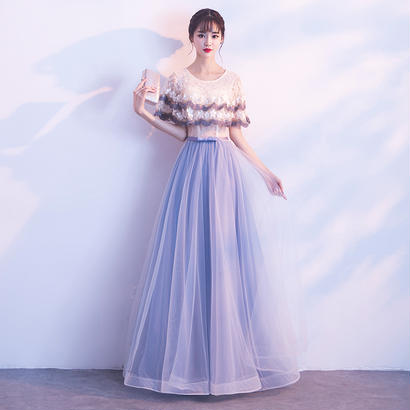 パーティードレス 結婚式 二次会 ワンピース 結婚式ドレス お呼ばれワンピース 20代 30代 40代 プライズメイド  ロングドレス 袖あり