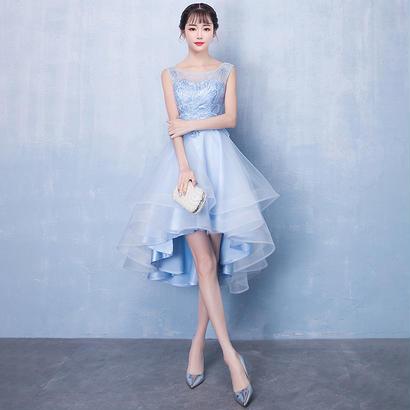 パーティードレス 結婚式 二次会 ワンピース 結婚式ドレス お呼ばれワンピース 20代 30代 40代 袖あり ショート 花柄 レース シフォン
