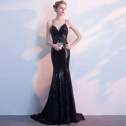 ロングドレス パーティードレス 結婚式 二次会 ワンピース 結婚式ドレス お呼ばれワンピース 20代 30代 40代 黒