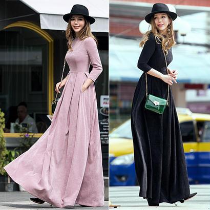 パーティードレス 結婚式 二次会 ワンピース 結婚式ドレス お呼ばれワンピース 20代 30代 40代 ロングドレス 袖あり 黒