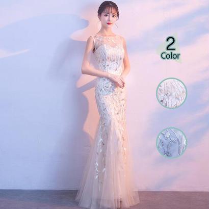 ロングドレス パーティードレス 結婚式 二次会 ワンピース 結婚式ドレス お呼ばれワンピース 20代 30代 40代 レース シフォン 刺繍