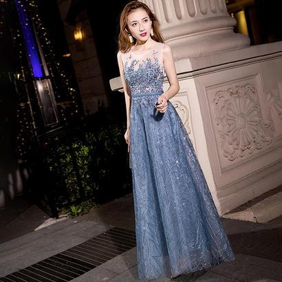 ロングドレス パーティードレス 結婚式 二次会 ワンピース 結婚式ドレス お呼ばれワンピース 20代 30代 40代 花柄