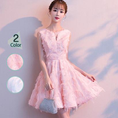 パーティードレス 結婚式 二次会 ワンピース 結婚式ドレス お呼ばれワンピース 20代 30代 40代 ショート ピンク