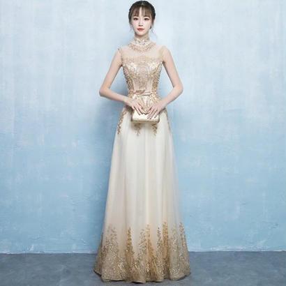 パーティードレス 結婚式 二次会 ワンピース 結婚式ドレス お呼ばれワンピース 20代 30代 40代 ロングドレス レース