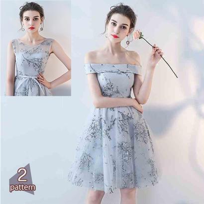 パーティードレス 結婚式 二次会 ワンピース 結婚式ドレス お呼ばれワンピース 20代 30代 40代 ひざ丈 刺繍 シフォン