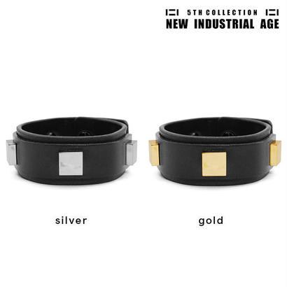 4 SQUARES leather bracelet