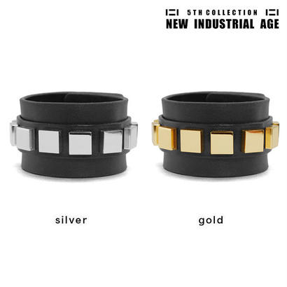 9 SQUARES leather bracelet