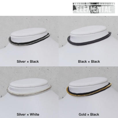 ZIP CHAIN leather choker