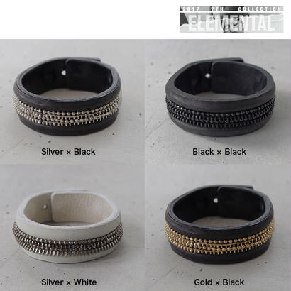 ZIP CHAIN leather bracelet