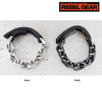 BIG CHAIN & leather bracelet