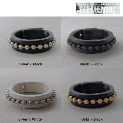 BALL CHAIN leather bracelet