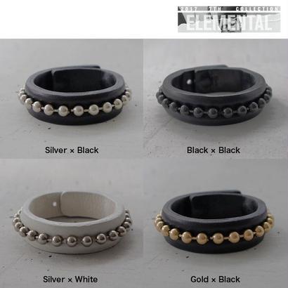 BALL CHAIN leather bracelet