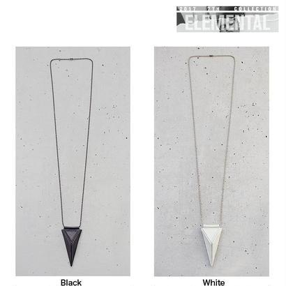 TRIANGULAR pyramid leather necklace