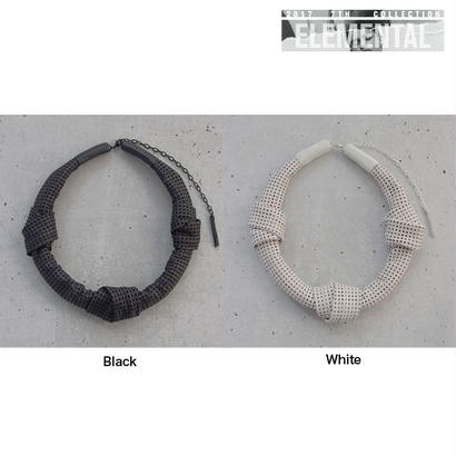 MESH leather short necklace