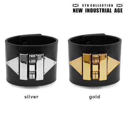 MECHANICAL EMBLEM leather bracelet