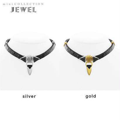 TUSK jewel choker (black × black)