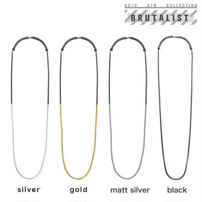 2 TONE BLOCK CHAIN long necklace