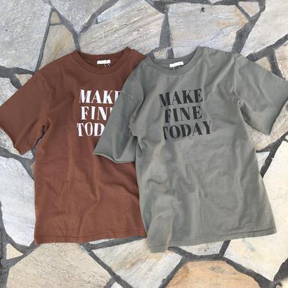 cotton100%ロゴTシャツ