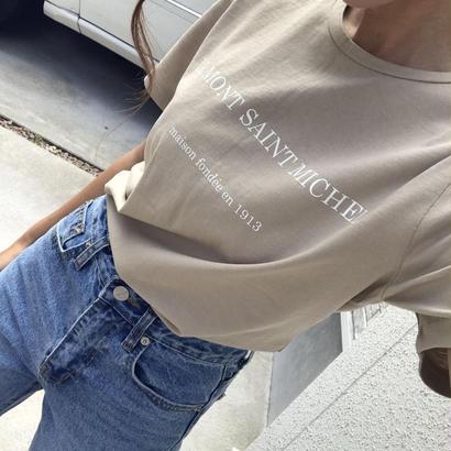 ベージュロゴTシャツ