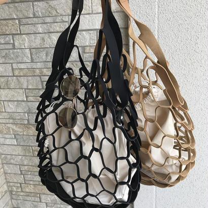こなれ感編みデザインバッグ